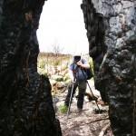 Med fotograf i Brända Skogen